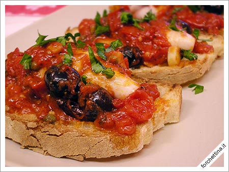 Bruschetta di totani